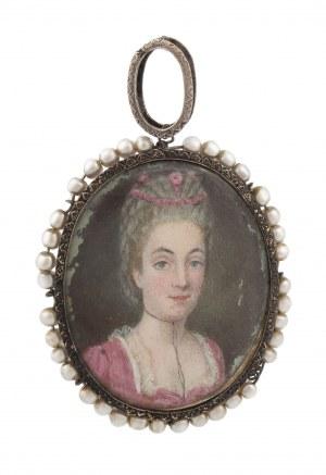 Miniatura - portret damy, I poł. XIX w.