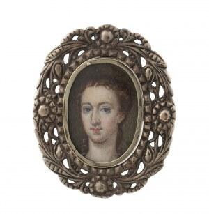 Miniatura - portret kobiety, k. XIX w.