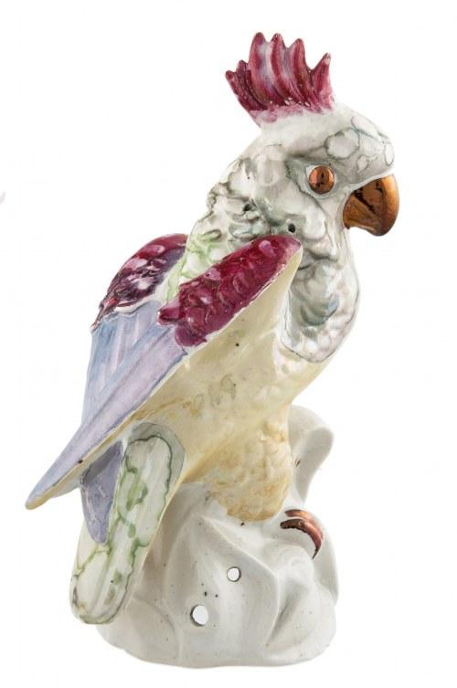 Figurka papugi, Zygmunt Buksowicz, Steatyt, Katowice, poł. XX w.
