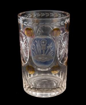 Szklanica w stylu Biedermeier, Czechy, II poł. XIX w.