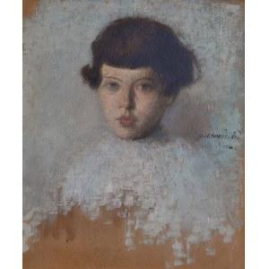 Alfons Karpiński (1875-1961), Portret dziewczynki, 1920