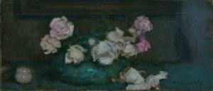 Alfons Karpiński (1875-1961), Białe i różowe róże, ok. 1932