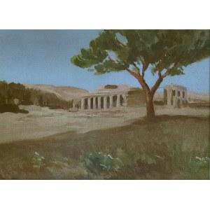 Iwan Trusz (1869-1940), Pejzaż z ruinami antycznymi