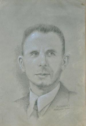 Paweł Steller (1895-1974), Portret Wiktora Polewki, 1972