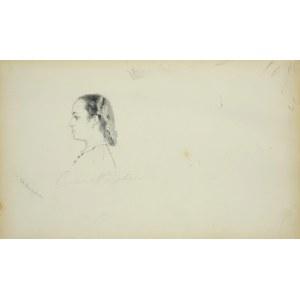 Stanisław Chlebowski (1835-1884), Portret młodej kobiety z profilu