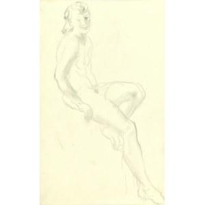 Kasper Pochwalski (1899-1971), Akt siedzącej kobiety, 1941
