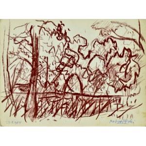Kazimierz Podsadecki (1904 - 1970), Pejzaż z drzewami - Park, 1964