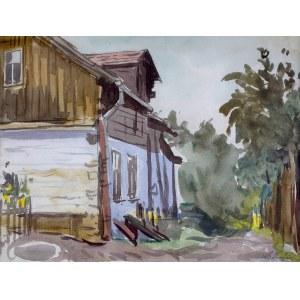 Władysław Serafin (1905-1988), Motyw z zabudowaniami
