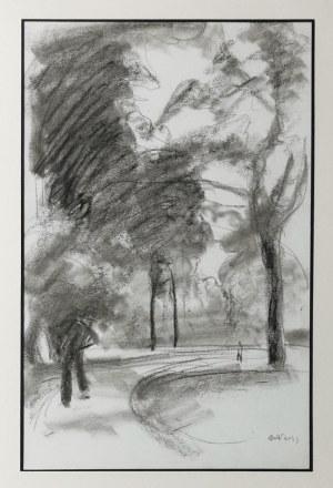 Wojciech WEISS (1875-1950), Aleja w parku pałacu w Puławach