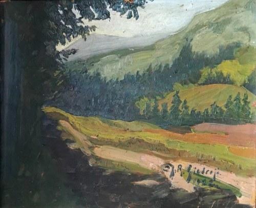 Janina Róża GIEDROYĆ-WAWRZYNOWICZ (1902-1995), Widok górski, 1922