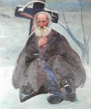 Andrzej PRONASZKO (1888-1961), Starzec pod przydrożnym krzyżem, ok.1908