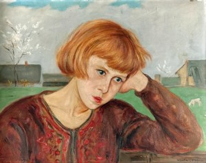 Wlastimil HOFMAN (1881-1970), Zaduma wiosenna, ok. 1930