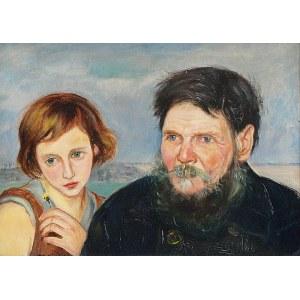 Wlastimil HOFMAN (1881-1970), Starzec i dziewczyna