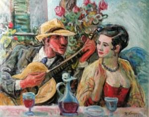 Henryk LANGERMAN (1896-1944), Zaloty - scena idylliczna, 1928