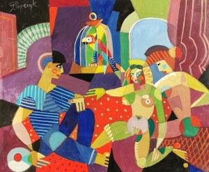 Józef POPCZYK (1890-1971), Marynarz i dziewczyny [Dziewczyny i marynarz]