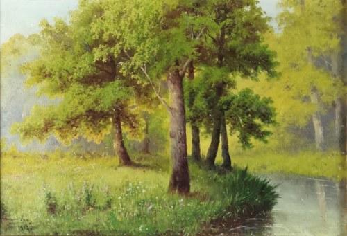 Józef GURANOWSKI (1852-1922), Pejzaż wiosenny, 1917
