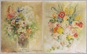 Nina ALEKSANDROWICZ (1888-1946), Para obrazów: Kwiaty