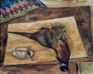 Jerzy FEDKOWICZ (1891-1959), Martwa natura z bażantem i filiżanką