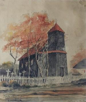 Adam Wiktor CZERBAK (1874-1932), Kościółek w Nowym Gawłowie, 1921