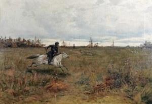 Malarz nieokreślony, XIX w., Polowanie na wilka