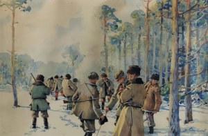 Stanisław GIBIŃSKI (1882-1971), Scena z polowania