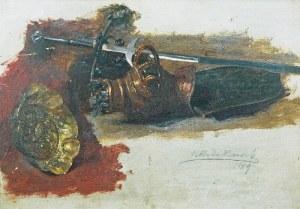 Henryk RODAKOWSKI (1823-1894), Studia hełmu, miecza i patery, 1889