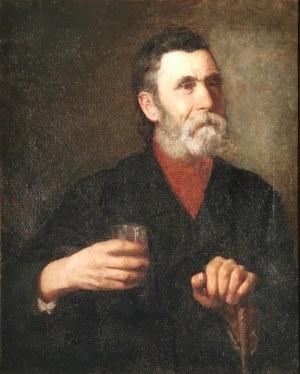 Bronisława ŁUKOMSKA-WIELOWIEYSKA (1865-1939), Starzec ze szklanką