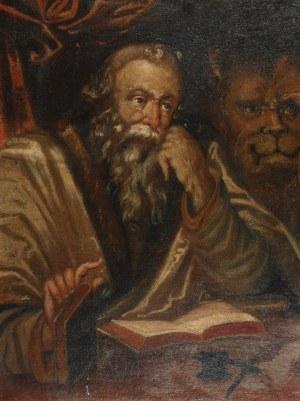 MALARZ NIEOKREŚLONY, XVII w., Św. Marek Ewangelista