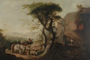 Malarz nieokreślony, XVIII w., Scena rodzajowa z pasterzami
