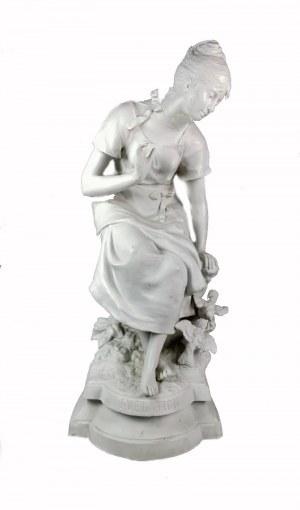 Léon DESCHAMPS (1860-1928), Dziewczyna z ptakami