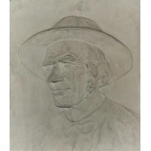 Jan GĄSIENICA SZOSTAK (1895-1943), Portret górala - płaskorzeźba