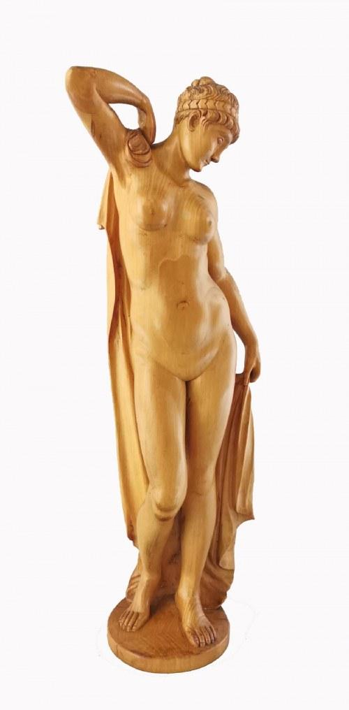 Rzeźbiarz nieokreślony, XX w., Po kąpieli - akt