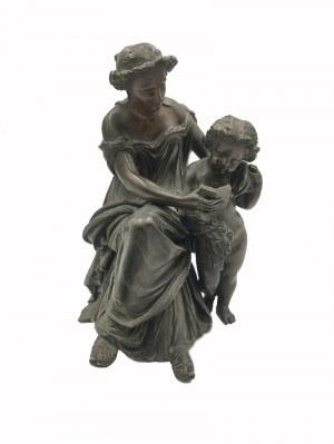 Henri-Frédéric ISELIN (1826-1905), Grupa rzeźbiarska - Nauka czytania