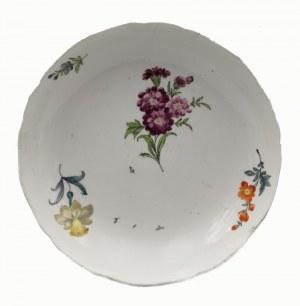 MIŚNIA, Königliche Porzellanmanufaktur, Talerz serwisowy (miska), z dekoracją kwiatową