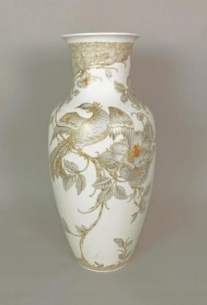 KAISER PORZELLAN (zał. 1872, do 1970 - Alboth & Kaiser), Bad Staffelstein, Wazon z dekoracją Adagio (motyw feniksów na ukwieconej gałęzi)