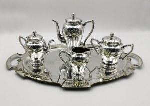 NORBLIN & Co (firma czynna 1819-1944), Komplet do kawy i herbaty z tacą