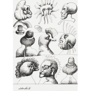 Jan LEBENSTEIN (1930 - 1999), Głowy, 1971