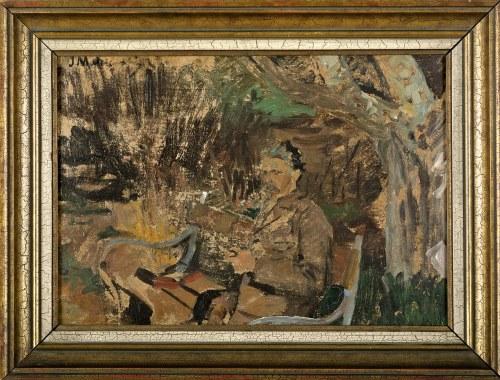 Jacek MALCZEWSKI (1854-1929), Portret mężczyzny na ławeczce - szkic