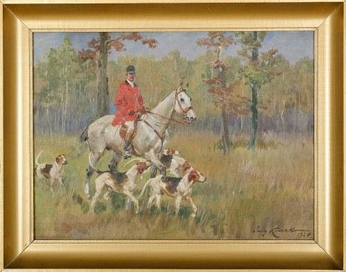 Jerzy KOSSAK (1886-1955), Na polowaniu (1928)