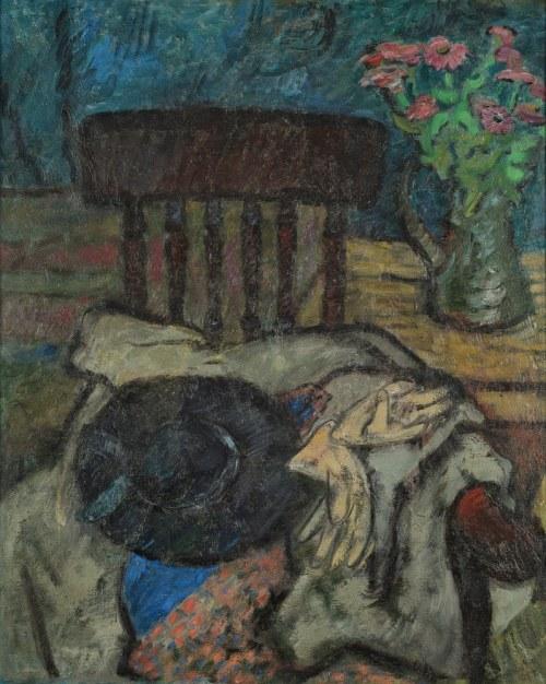 Eugeniusz GEPPERT (1890-1979), Martwa natura z kapeluszem (1951?)