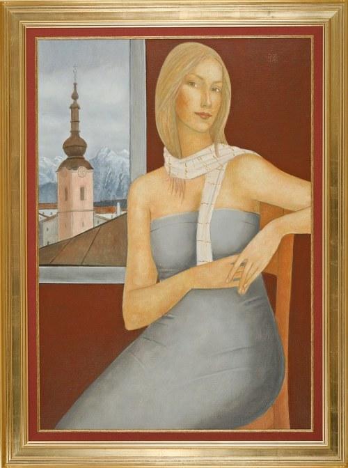 Roman ZAKRZEWSKI (1955-2014), Portret kobiety z szalem (2011)