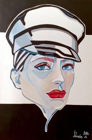 Paweł Porada (ur. 1985), Kobieta w czapce, 2020