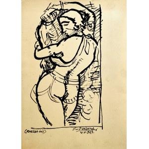 Kazimierz Podsadecki (1904 - 1970), Akt kobiety wg rzeźby indyjskiej, 1969