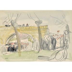 Wojciech Weiss (1875-1950), Pielgrzymi przy moście na Cedronie na dróżkach Kalwaryjskich, 1913