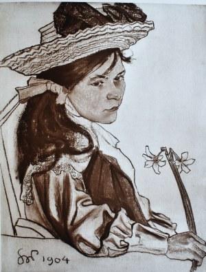 Stanisław Wyspiański (1869-1907), Dziewczynka z narcyzem
