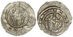 Denár, Cach-587 var. sv. Vojtěch bez svatozáře,  lehce exc.