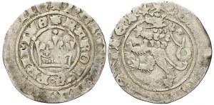 Pražský groš, Pinta V.a 1370-78,  lehce nedor.