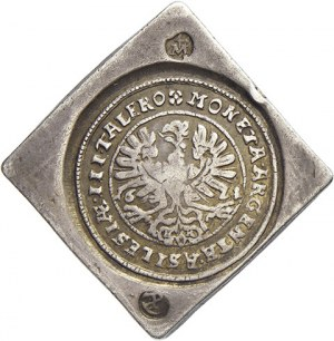 Slezské evangelické stavy (1621-35). 3 tolar 1621 (hranáč) Hlohov - Jachtmann (12,12 g), na hraně punc P. MKČ...