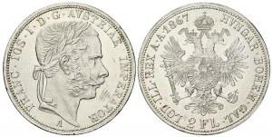 2 zlatník 1867 A.  n. hr., dr. škr.