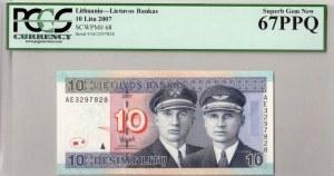 Lithuania 10 Litu 2007 Banknote. № AE3297828. P#68...